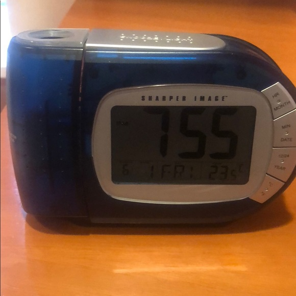 Other Sharper Image Alarm Clock And Projection Poshmark